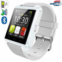 Montre connectée smartwatch Bluetooth Android écran tactile Blanc - www.yonis-shop.com