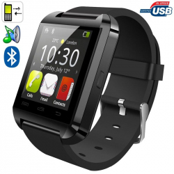 Montre connectée smartwatch Bluetooth Android écran tactile Noir - www.yonis-shop.com
