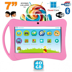 Tablette enfant 7 pouces Android 5.1 Bluetooth Quad Core 40Go Rose - www.yonis-shop.com