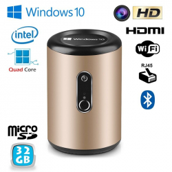 Mini PC Windows 10 TV Box Smart TV Média player WiFi Intel 32Go
