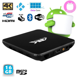 Mini PC Android 6.0 Octa Core 2GHz 2Go RAM Kodi Smart TV Box 4K 16Go