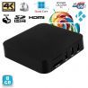 Mini PC Android TV Box Kodi média player 4K Smart TV 3D WiFi 8Go Noir