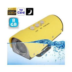 Camera sport action FULL HD 1080p étanche jaune USB Micro SD 8 Go - www.yonis-shop.com