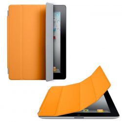 Smart cover new iPad 4 retina housse support orange