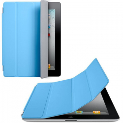 Smart cover new iPad 4 retina housse support bleu ciel 9.7