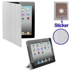 Smart cover iPad 2 sticker protection support blanc