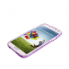 Housse Samsung Galaxy S4 I9500 coque silicone Pure color Violet - www.yonis-shop.com