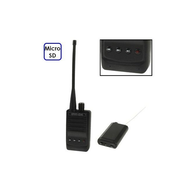 Mini micro espion talkie walkie longue port e 500 m tres - Talkie walkie professionnel longue portee ...