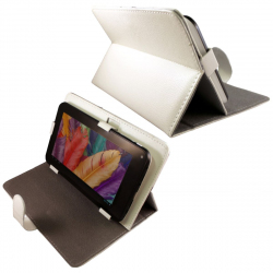 Housse universelle tablette tactile 7 pouces support étui Blanc